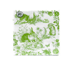 "Michel Design Luncheon-Napkins Servietten ""Bunny Toile"""